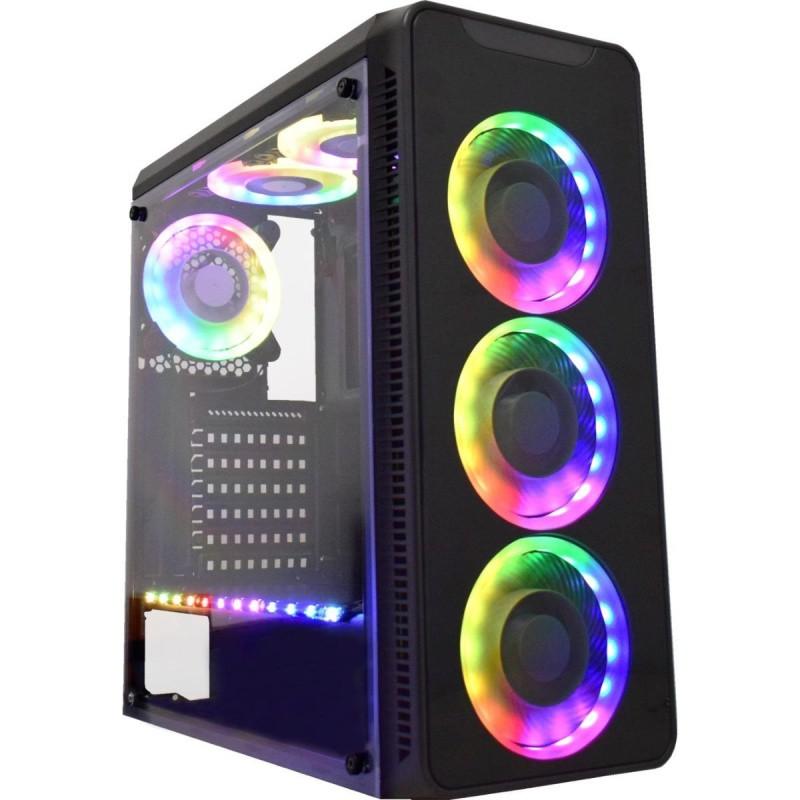 GABINETE GAMING INFINITY V PRETO LED RGB CG-05G8 K-MEX