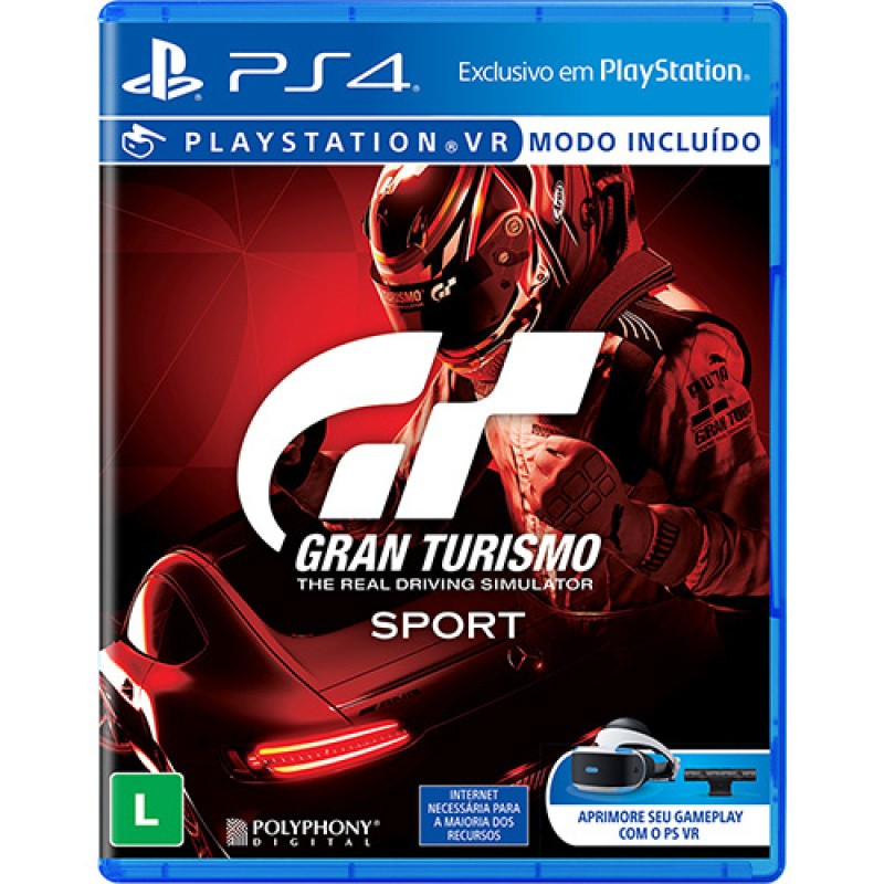 Game Gran Turismo Sport Hits - PS4 Midia Física compatível PS VR