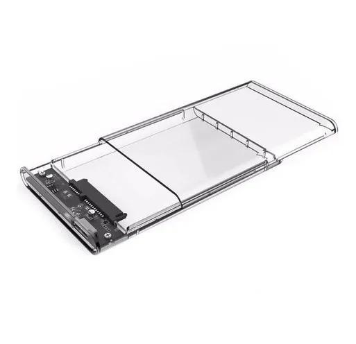 "GAVETA CASE TRANSPARENTE P/ HD SATA 2.5"" USB 3.0 ECASE-300"