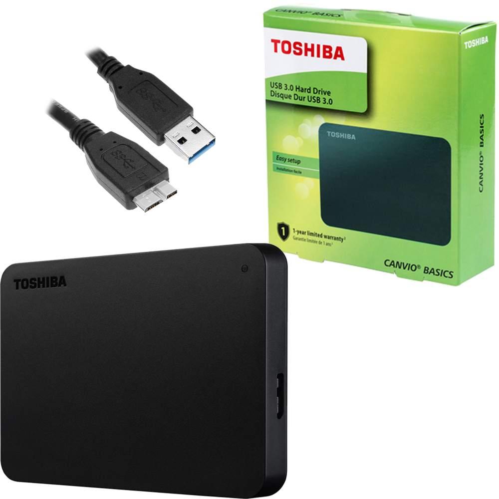 HD EXTERNO 1 TB CANVIO BASICS PRETO USB 3.0 HDTB410XK3AA TOSHIBA