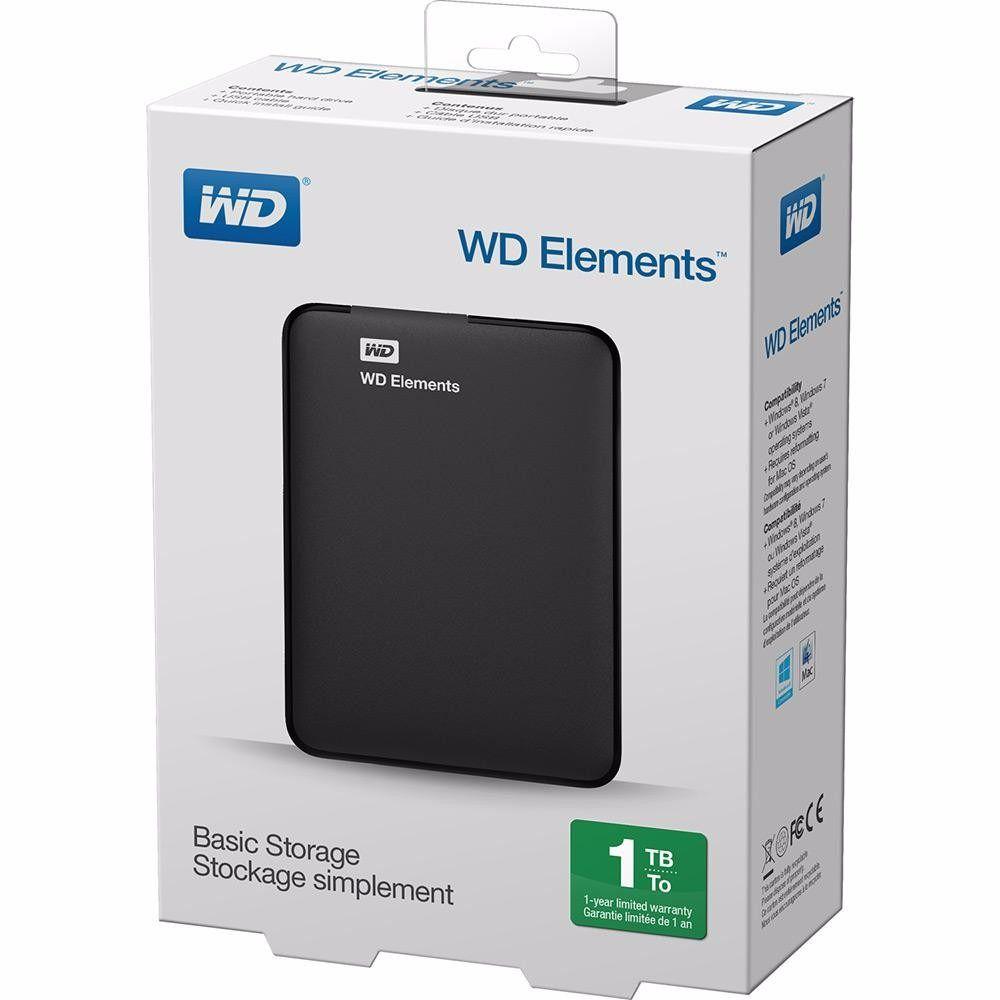Hd Externo 1tb Wd Western Digital 1 Tb Usb 3.0