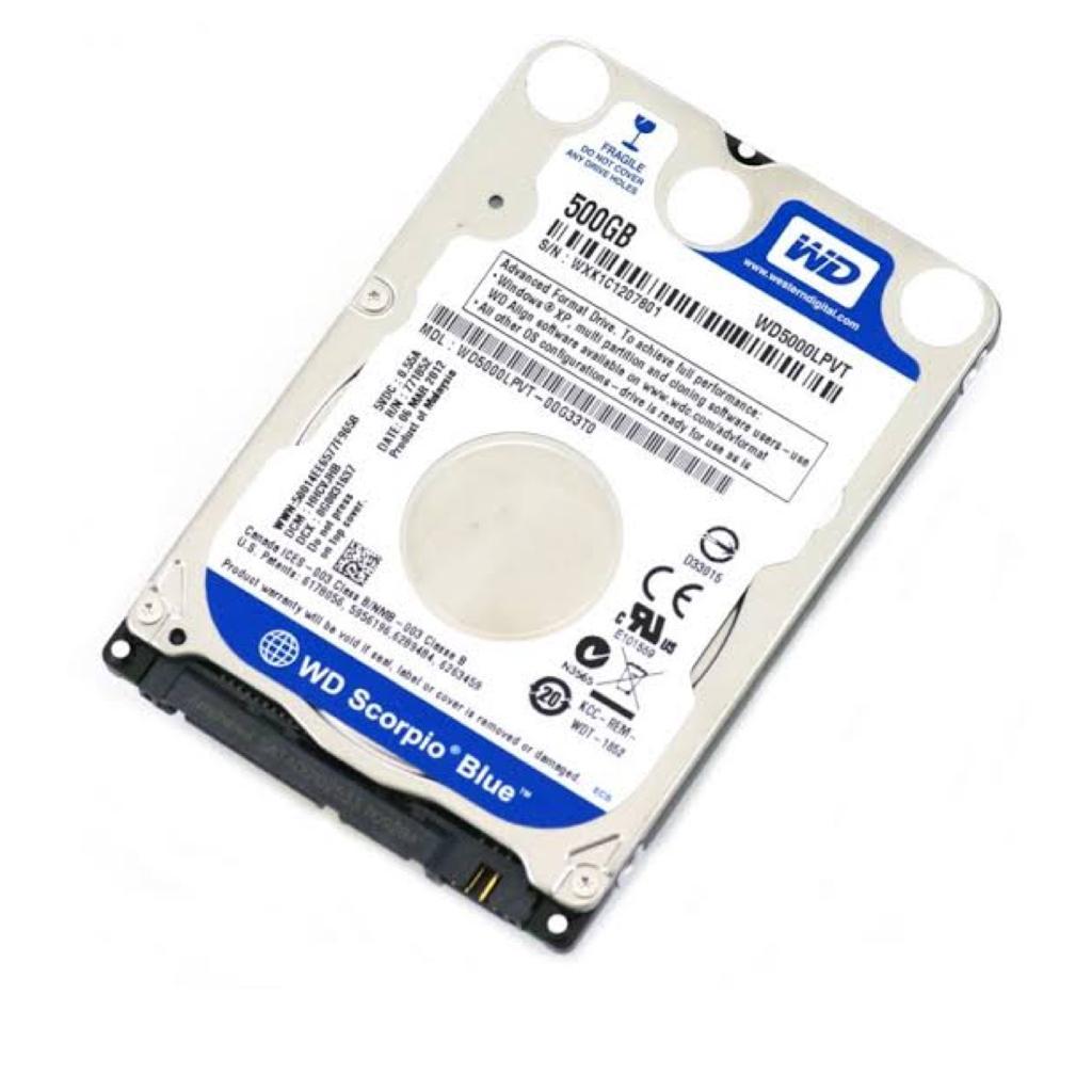 HD SATA 500GB P/ NOTEBOOK WESTERN DIGITAL
