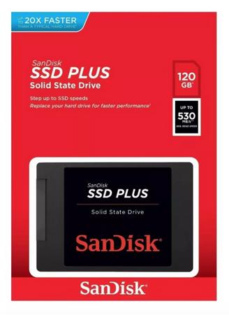 Hd Ssd Sandisk Plus 120gb 530 Mb/s Sata 3