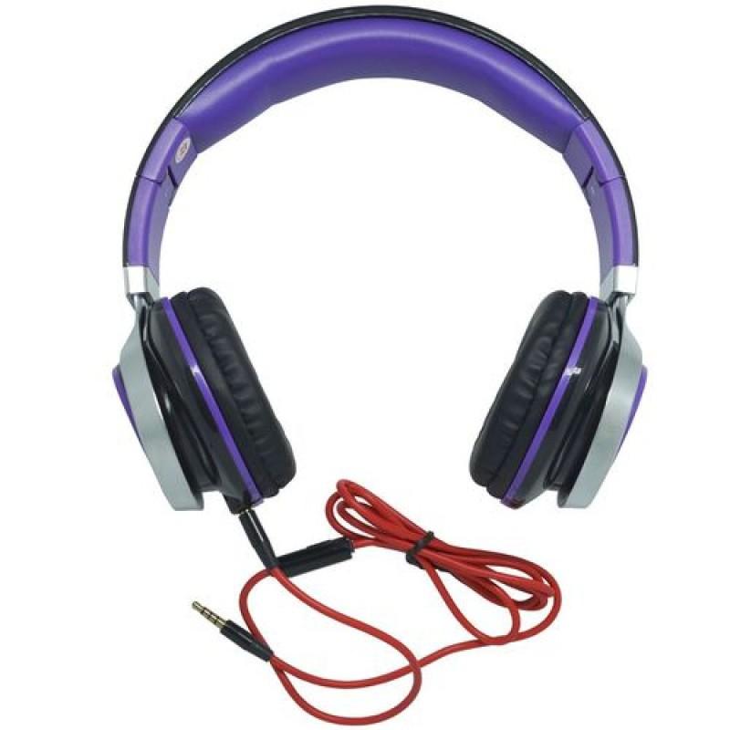 HEADFONE COM MICROFONE PARA COMPUTADOR E SMARTPHONE INFOKIT HM-750MV ROXO PS4 E XBOX ONE