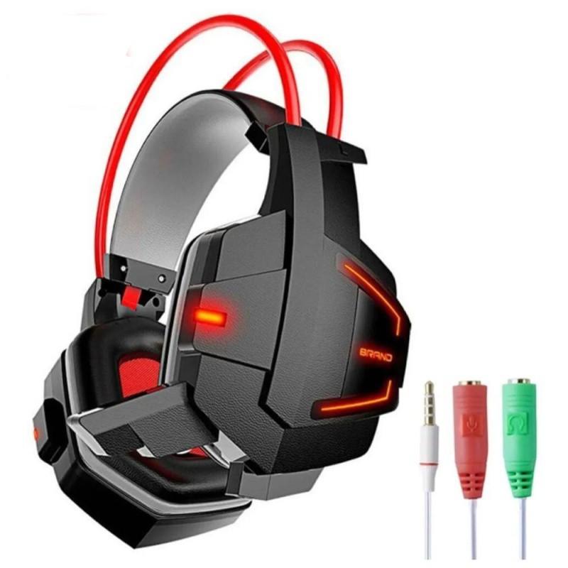 HEADFONE GAME P2 COM MICROFONE LUZ LED USB COLORIDO INFOKIT GH-X20