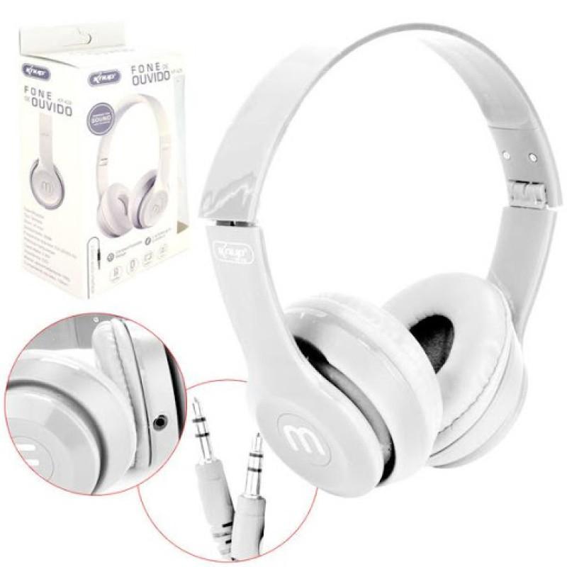 Headfone Gamer Cabo Removível 1,2m E Microfone KP-428 Knup branco