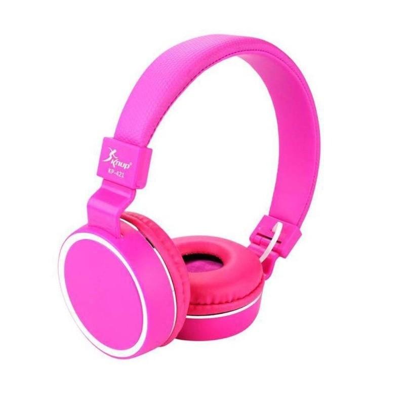 Headfone Gamer Cabo Removível 1,2m E Microfone KP-428 Knup Pink