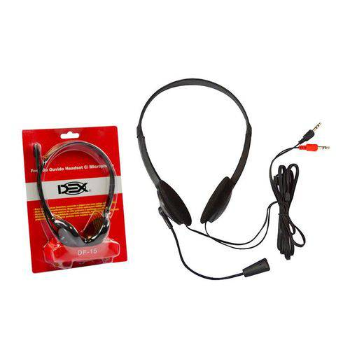 Headphone Com Microfone Headset Df-15