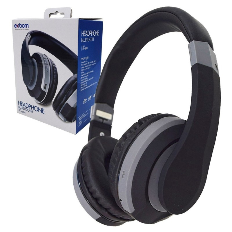 HEADPHONE sem fio BLUETOOTH SUPER BASS EXBOM HF-460BT
