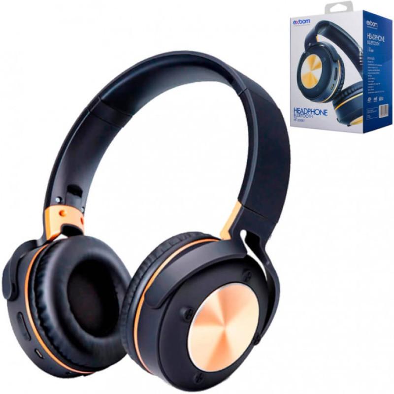 HEADPHONE WIRELESS BLUETOOTH MULTIMIDIA FM / SD / AUX EXBOM HF-500BT