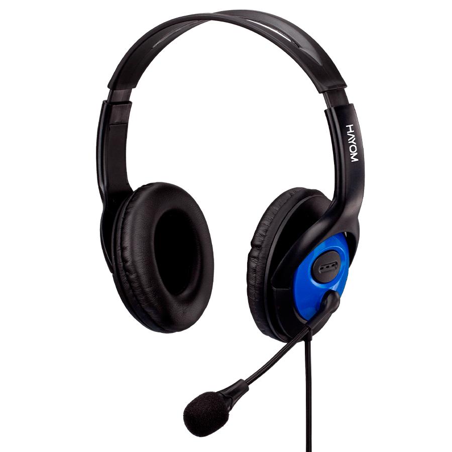 HEADSET FONE COM MICROFONE CABO 2,2M CONEC 2 P2 3,5MM OFFICE - HF2208 HAYOM