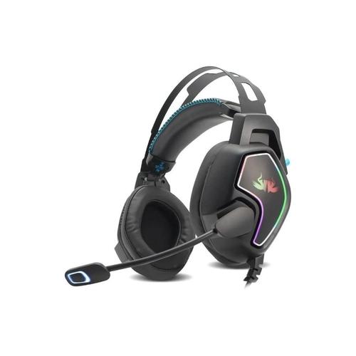 Headset Fone De Ouvido Gamer 7.1 USB LEDs RGB Knup Pc Kp-487