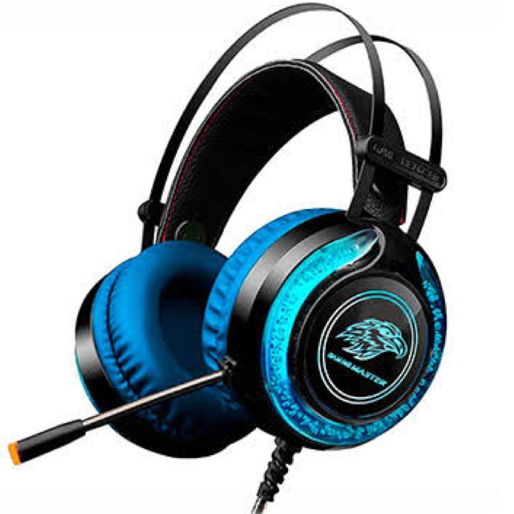 HEADSET GAMER KMEX MIC ARS930 PRETOAZUL LED RGB