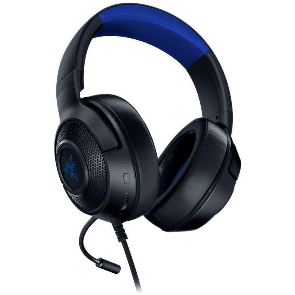 Headset Gamer Razer Kraken X P2 Drivers 40mm Console Black/Blue - RZ04-02890200-R3U1