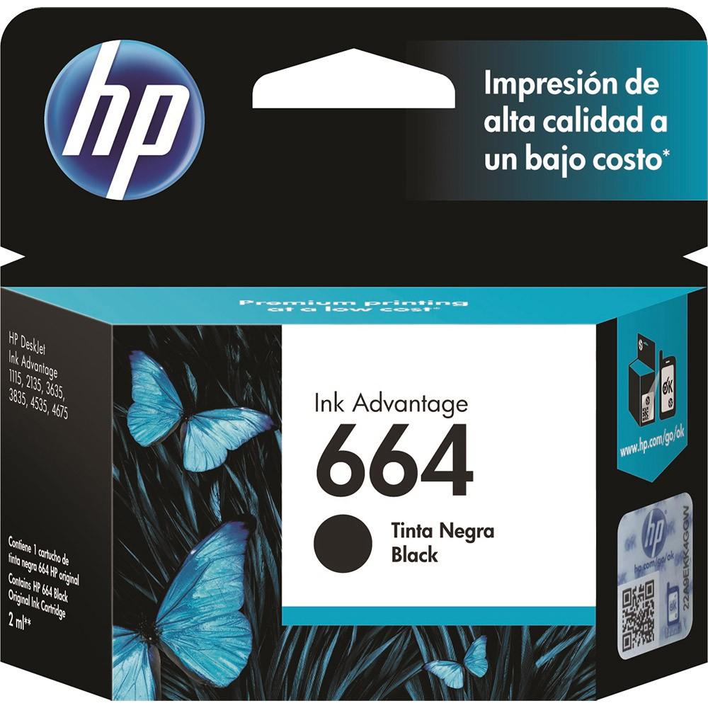 HP F6V29AB 664 CARTUCHO DE TINTA PRETO 2,0 ml