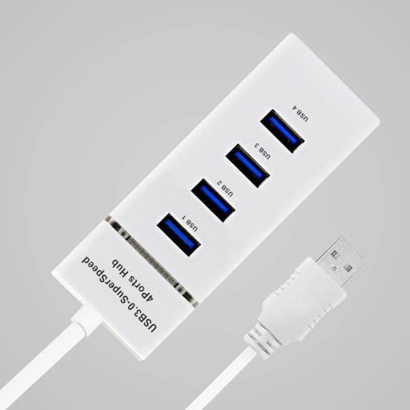 HUB 3.0 USB COM 4 PORTAS USB 5 gbps MB84375 BRANCO COMPATIVEL MAC