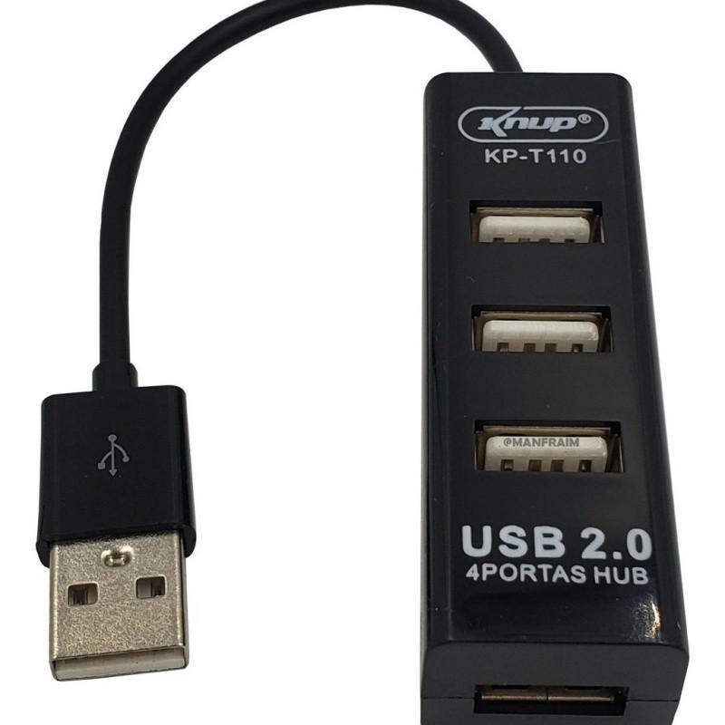 Hub Usb 2.0 4 Portas Kp-t110 - Knup