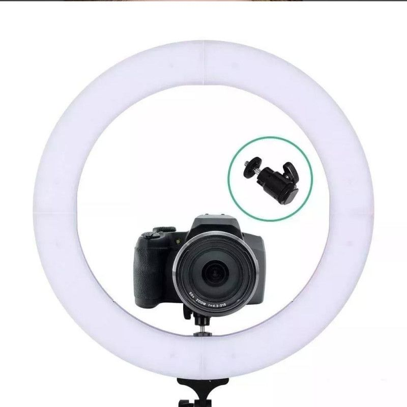 """Iluminador ring ligth 19"""" 49cm diâmetro 320 LEDS dimelizavel 3200K à 5600K com suporte flexivel para smartphone 03056"""
