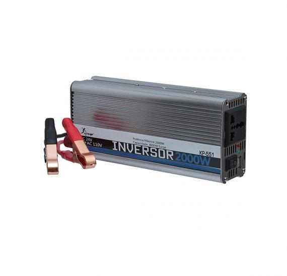 INVERSOR DE TENSAO 2000W ENTRADA 24VDC SAIDA 110V AC KNUP KP-551