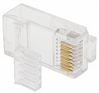 KIT 50 Conector RJ45 ChipSce Macho 8x8 Cat6 com Guia - 062-0052