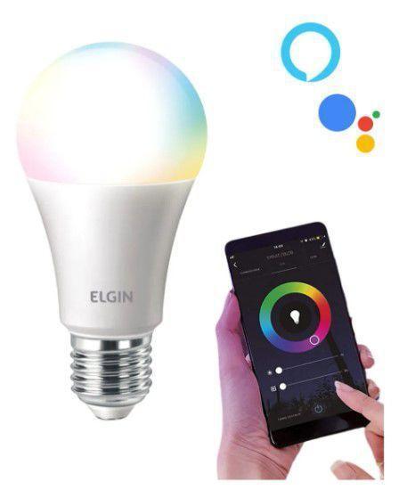 Lâmpada Inteligente Rgb Wifi Smart Google Alexa Colorida 10W Elgin 48BLEDWIFI00