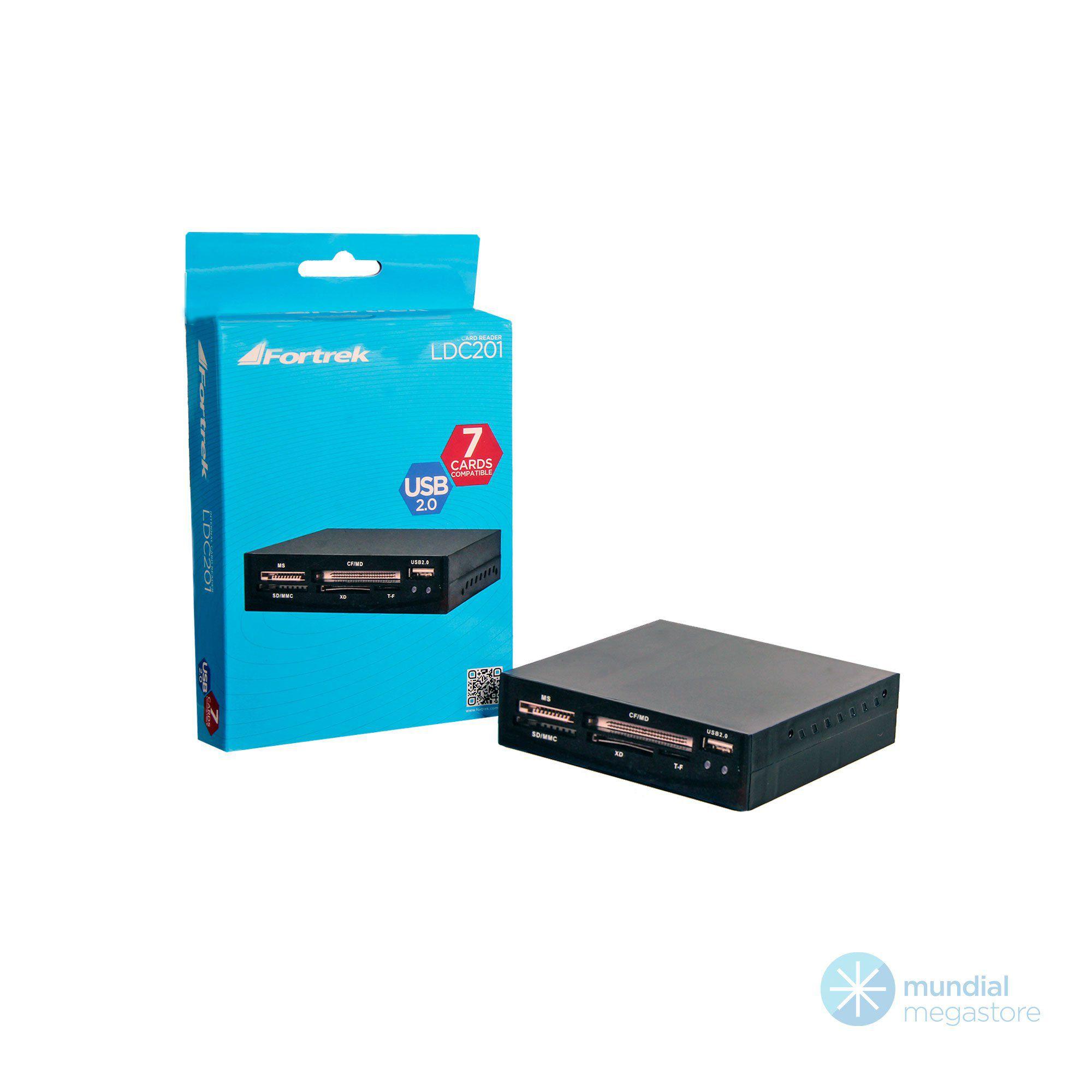 LEITOR DE CARTÕES INTERNO PARA DESKTOP - USB 2.0 LDC201 FORTREK