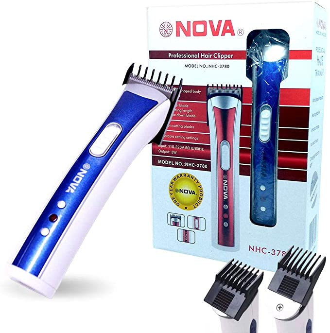Máquina Aparadora de Barba e Cabelo Nova NHC 3780 Recarregavel Sem Fio Azul***