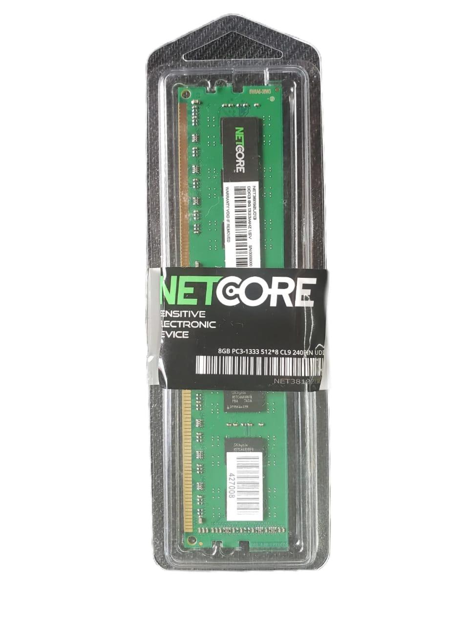 MEMORIA PC DDR3 8GB 1333MHZ 1,5V NETCORE DESKTOP