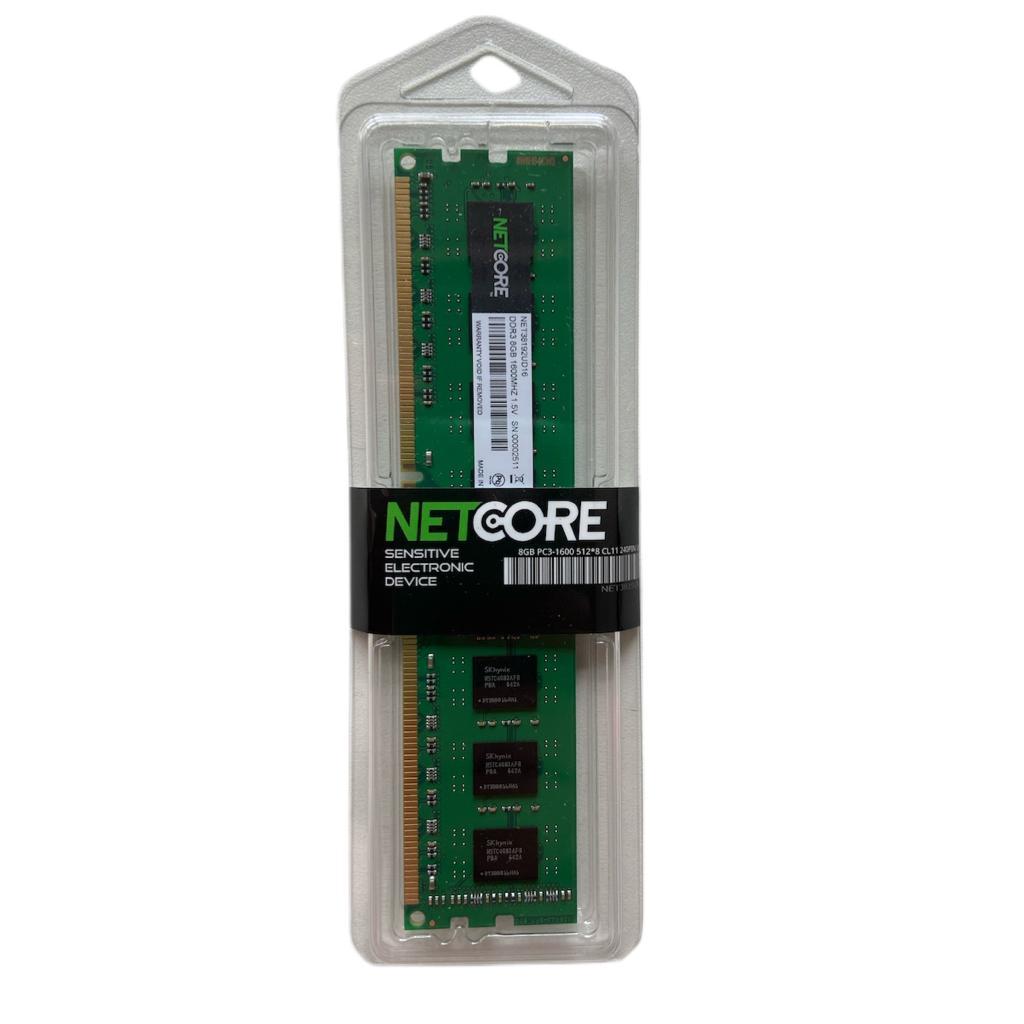 MEMORIA PC DDR3 8GB 1600MHZ 1,5V NETCORE DESKTOP