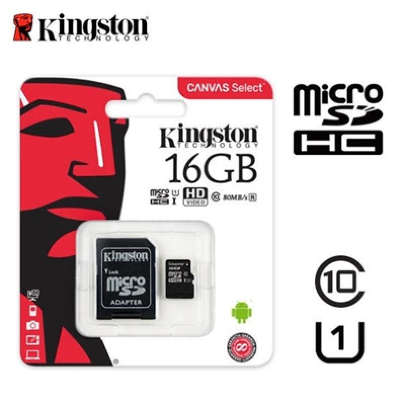 MEMORY MICRO SD 16GB KINGSTON CLASSE 10