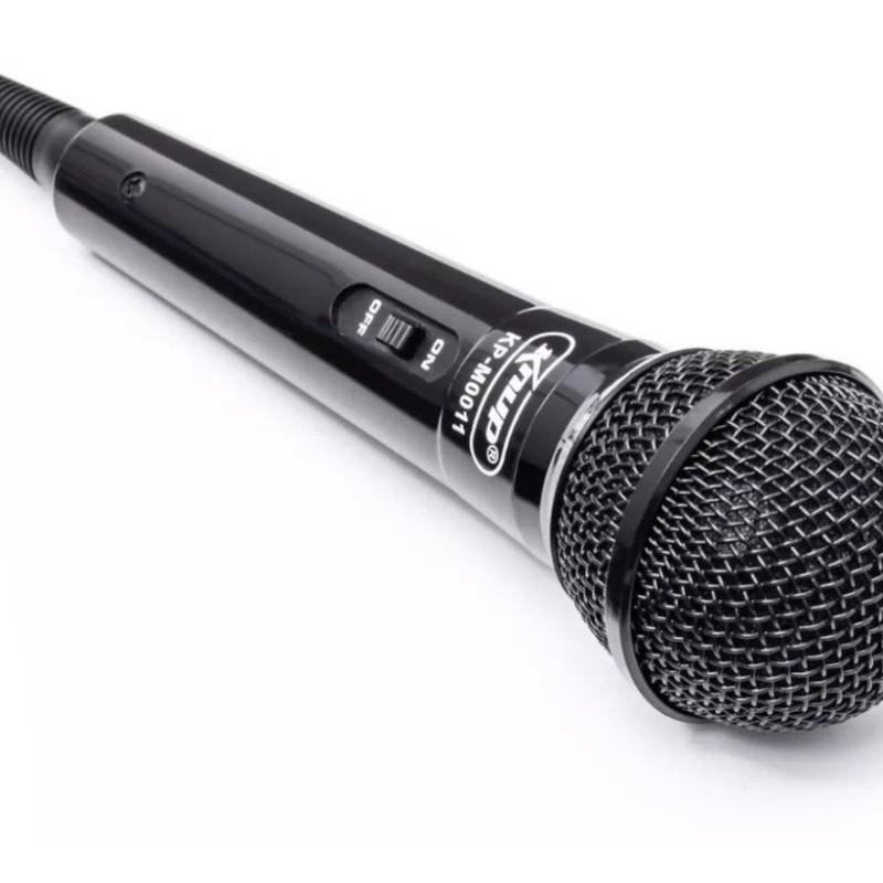 Microfone Com Fio P/ Karaokê, Palestras, Gravações Kp-m0011 Knup