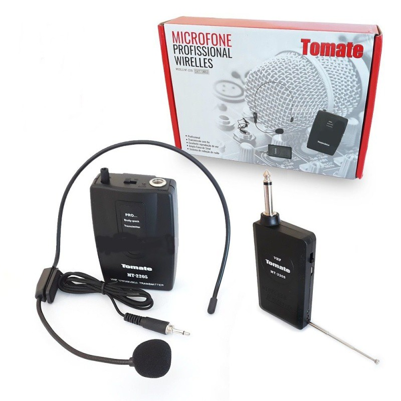 Microfone Headset Tomate Mt-2205 Sem Fio - Completo