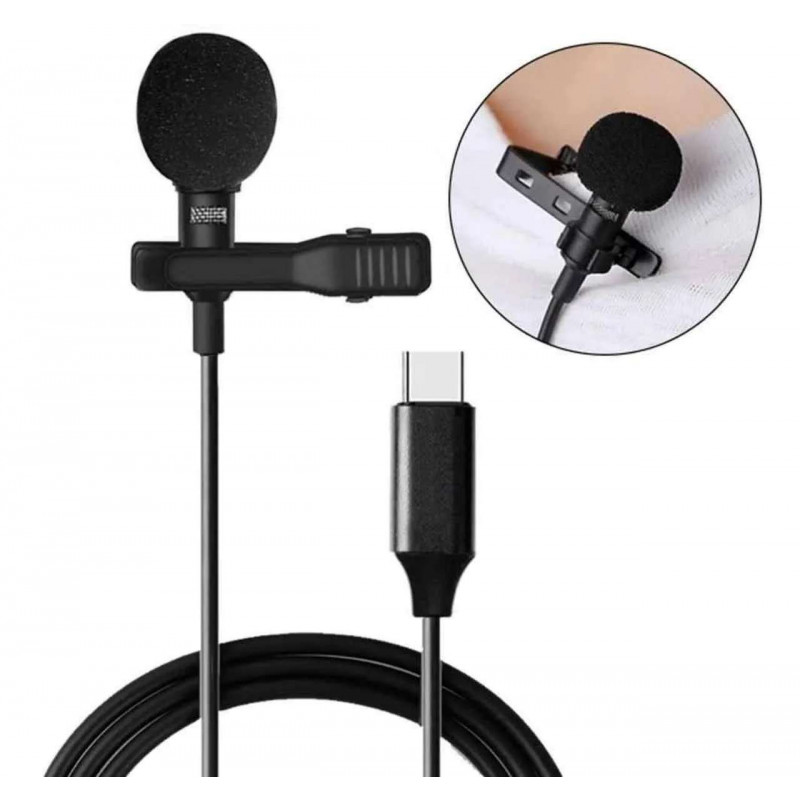 Microfone Lapela para Celular e Tablet Tipo C xTrad - CH0454