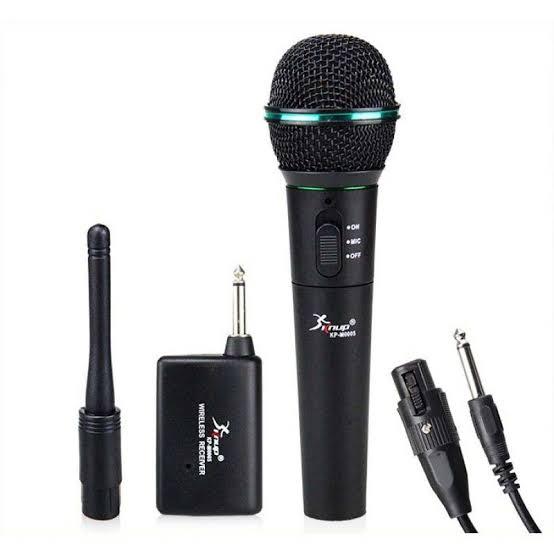 Microfone Sem Fio Hi-fi Knup Kp-m0005 Dinâmico Profissional
