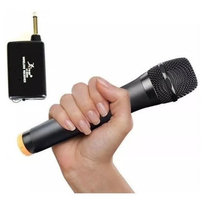 Microfone Sem Fio Vhf ideal Palestras Karaoke Festas Igreja KP-M0012 Knup