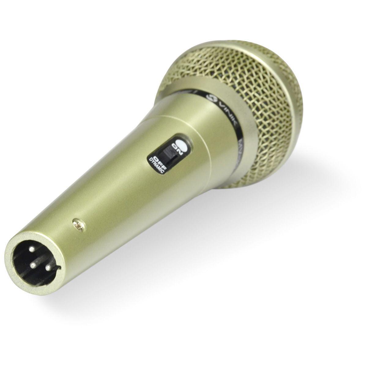 MICROFONE VOCAL COM FIO MV-30 CHAMPAGNE