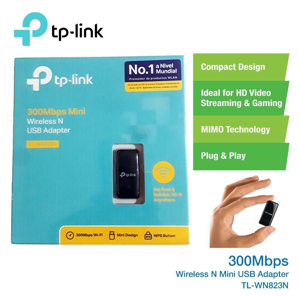 MINI ADAPTADOR USB WIRELESS N 300 Mbps TL-WN823N TP-LINK@