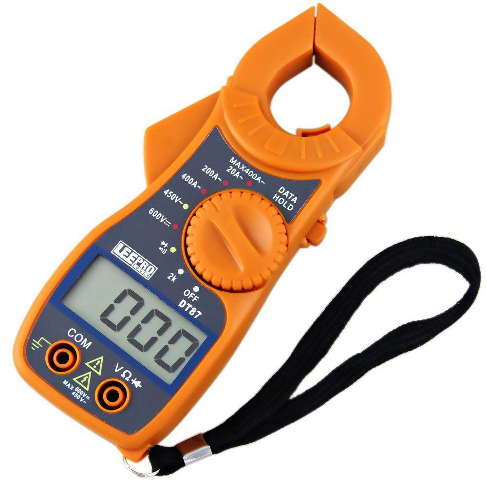 Mini Alicate Amperimetro Digital Aviso Sonoro Mt87 Ac/dc