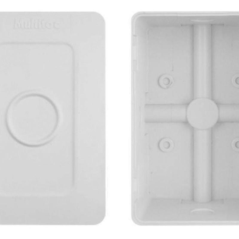 Mini Caixa de Sobrepor Retangular Para Organizar Câmeras De Segurança Multitoc Cftv