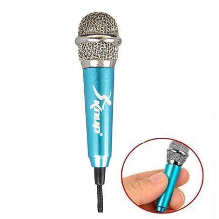Mini Microfone Computador Pc Celular App Karaoke Alta Sensibilidade Knup Kp-907