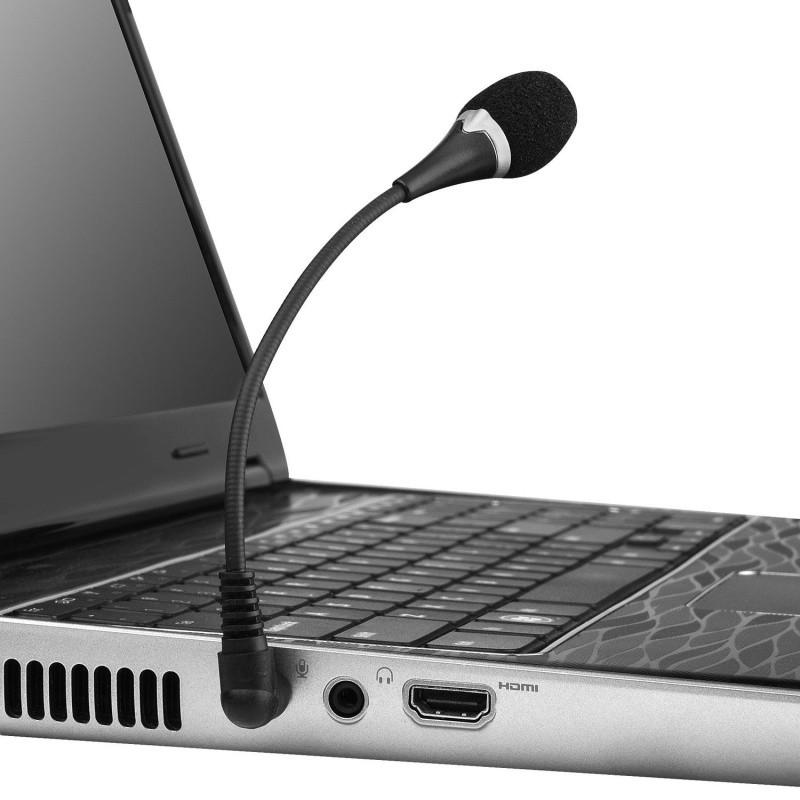 Mini Microfone p/ Notebook PC Ultrabook Tablet Mesa Som P2 Articulavel Alitech