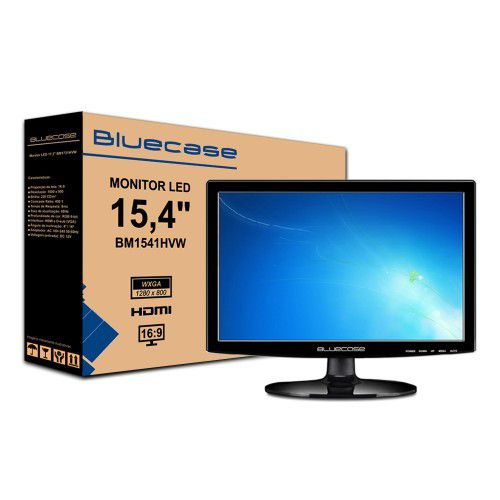 MONITOR 15,4 LED BM1541HVW BLUECASE - HDMI / VGA