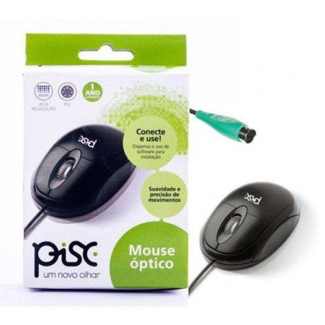 MOUSE  OPTICO PRETO PS2 PISC 1808
