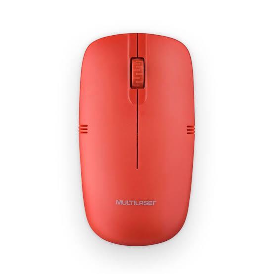 MOUSE OPTICO SEM FIO USB MO289 VERMELHO MULTILASER
