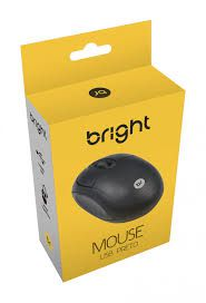 MOUSE OPTICO USB BRIGHT PRETO - 0106