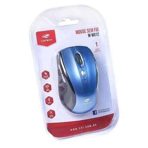 MOUSE OPTICO WIRELESS USB M-W012BLV2 AZUL C3 TECH