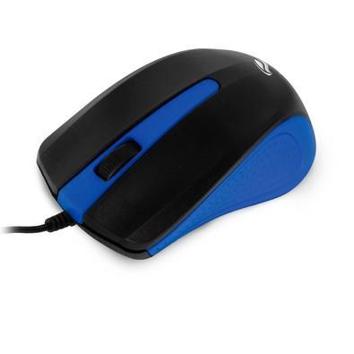 Mouse Usb Óptico 1000dpi Preto E Azul C3 Tech Ms-20bl