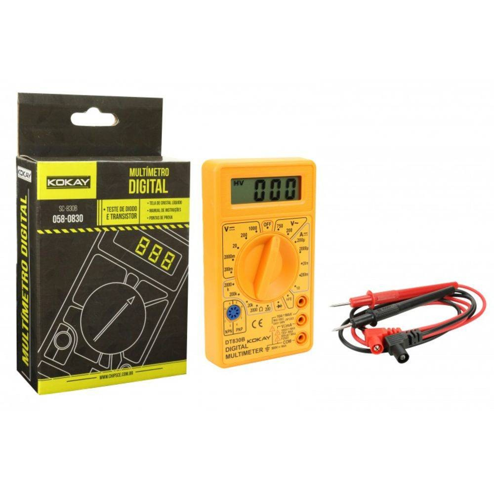 Multimetro Digital DT-830B - Kokay - 058-0830
