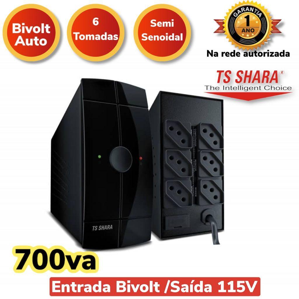 NOBREAK POWERUPS 700VA BIVOLT/115V 4009 TS SHARA