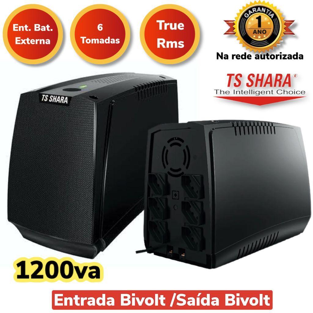 NOBREAK UPS COMPACT XPRO 1200VA TSSHARA BIVOLT/BIVOLT ENGATE BATERIA